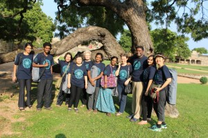 Group Shot under the ancient Neem Tree