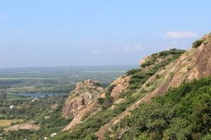 Marutuva Malai - spot the Reclining Hanuman ?