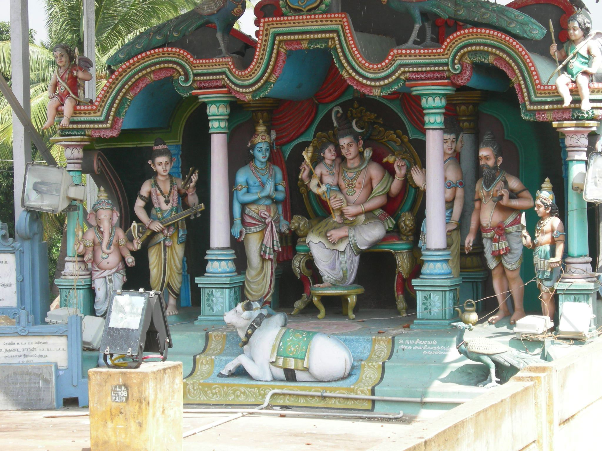 Swamimalai Abode of Lord Muruga.  Teaching his Father the Meaning of OM